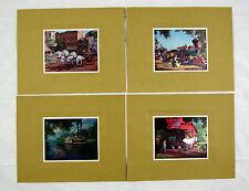 Vintage 1960's Paul Detlefsen Color Foil Etch Four Print Portfolio
