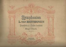 Symphonien von L. van Beethoven für Pianoforte zu 4 Händen Spartito 1880