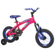 Huffy Flair Kids Girls 12 Inch Bike Bicycle with Training Wheels, Ages 3 to 5
