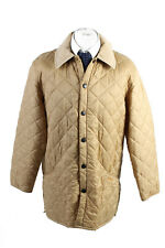 "Vintage Barbour Quilted Mens Coat Jacket Smart Outerwear Chest 48"" Gold - C1791"