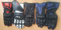Motorbike Men Gloves Heavy Duty Pre Curved Finger Comfortable Real Leather Glove