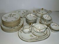 Vintage 36 pc Bombay Edelstein Dinnerware Dish Set Bavaria Germany Bamboo Plates