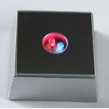 3 LED Colorful Light Crystal Figurine Display Stand Base Home Decor