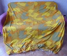 VINTAGE 1960 S 1970 S Retrò Brillante stretch in nylon doppio materasso o futon COVER