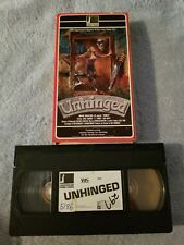 Unhinged (1982) - VHS Tape - Horror - Laurel Munson - Janet Penner - Sara Ansley