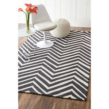 nuLOOM HJHK04A Heritage Collection Chevron Contemporary Hand Made Area Rug 8x10