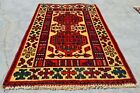 Authentic Hand Knotted Vintage Hareez Wool Area Rug 3 x 2 Ft (12337 KBN)