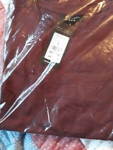Men's BNWT Burgundy Crew Neck Tshirt, Size L, From New Look