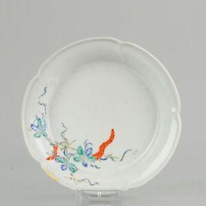Antique 17th c Kakiemon Flower Japanese Porcelain Bowl Japan Quality