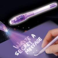 4X colours SPY PEN PARTY BAG INVISIBLE  UV LIGHT INK SECRET MESSAGE MAGIC.