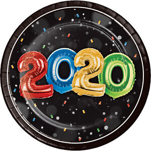 8 x Year 2020 Party Celebration Paper Plates CHEAP BARGAIN SALE CLEARANCE