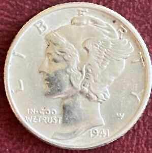 USA - One Dime .900 Silver Coin - 1941 (GY5)