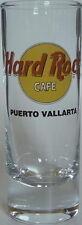 "Hard Rock Cafe PUERTO VALLARTA 4"" SHOT GLASS Classic HRC Logo Heavy BLACK TEXT"