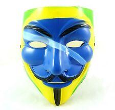 VENDETTA GUY Halloween Masquerade Costume Bandiera Brasiliana Carnevale Face Mask V
