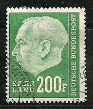 Germany - SAAR  1957, President Heuss  Scott 307