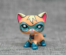 Super Rare Littlest Pet Shop COMIC CON CAT Super Hero kitten kitty Blue Eyes Toy
