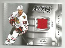 18/19 UD Artifacts Brandon Saad Lord Stanley's Legacy Relics Jersey BLACKHAWKS