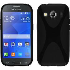 Coque en Silicone Samsung Galaxy Ace 4 - X-Style noir + films de protection