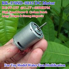 High Speed Carbon Brush DC 6V 7.4V 11.1V 45500RPM Strong Magnetic RK-370 Motor