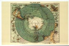 Panoramic Map of Antarctica, Süd-Polar Karte Antarktis (1912) -- Modern Postcard