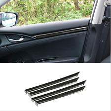Carbon Fiber Interior Door Decor Cover Trim For Honda Civic 2016-2020