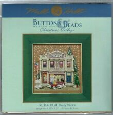 Christmas Village Daily News Winter Series Buttons & Beads Kit by Mill Hill