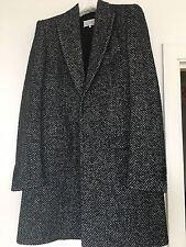 Maison Margiela laine et soie Herringbone manteau, UK 38