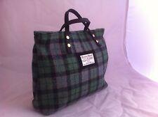 Green Harris  tweed handbag tartan bag womens gift for her Scottish gift