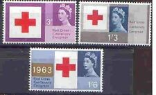 Great Britain 1963 RED CROSS Set (PHOSPHOR) (3) Unhinged Mint SG 642p-4p