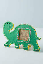 Anthropologie Stitched Dinosaur Photo Picture Frame NEW