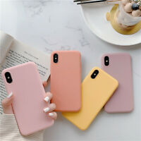 Candy Solid Color Silicone Phone Case For iPhone XS MAX XR X 7 8 6s Plus Cover