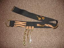 Raro FORNARINA Diseñador De Lona Cinturón de cadena única Bling & Leather uno de una clase