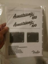 FENDER ACOUSTASONIC 100 / 150 AMP OWNER'S MANUAL free USA SHIPPING NEW OLD STOCK
