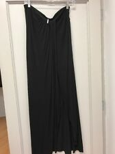Free People Black Maxi Skirt With High Slit SzM
