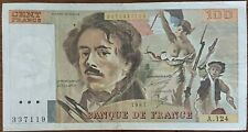 Billet 100 francs Eugène DELACROIX 1987 FRANCE  A.124