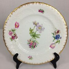 """Copeland's China Daniell & Son Floral Plate With Gilt Edges C.1880. 8.5"""""""
