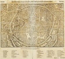 FREIBERG - Vogelschau - Sebastian Münster - Holzschnitt 1554