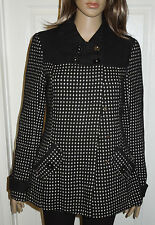 Billabong Women's Black Tweed Coat Jacket Size Medium