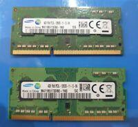 8GB pair SAMSUNG (2x 4gb) RAM MEMORY DDR3-1Rx8 PC3-12800S  M471B5173QH0-YK0 HP