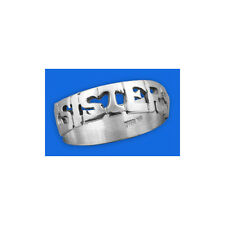 Personalized Sterling Silver Name Ring English or Hebrew Personalised jewellery