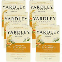 6-NEW Yardley London Oatmeal & Almond Naturally Moisturizing Bath Bar 4.25 Oz