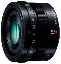 New! Panasonic H-X015-K LUMIX G LEICA DG SUMMILUX 15mm /F1.7 ASPH. BLACK Japan