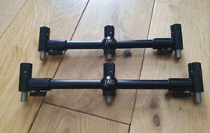 Jag Prolite Black Adj 3 rod buzz bars front/back snag adaptor convertors MINT