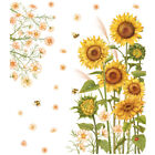 Sunflower Flower Removable Wall Sticker Mural Decals Wall Home Room Decoration