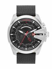 Diesel Quartz (Battery) Genuine Leather Strap Wristwatches