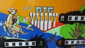 """Flipperscheibe Pinball  Backglass   """"  BIG VALLEY  """""""