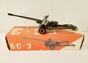 VINTAGE MILITARY DIE CAST 6C-3 100MM ARTILLERY CANNON MADE IN RUSSIA