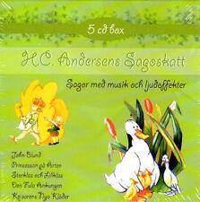 5 CD Märchen + Musik  SCHWEDISCH H.C. Andersen Andersens Sagoskatt Sagor