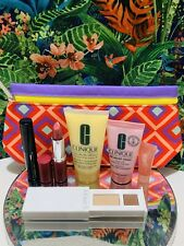 Clinique Skincare, Lipstick ,mascara,lotion Travel Size Makeup Deluxe Gift Set 7