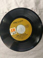 Joe Cocker Midnight Rider / Woman To Woman 1972 A&M 1370 Soul Rock 45 Strong VG+